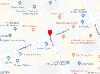 Kocatepe Mahallesi Meşrutiyet Caddesi Kızılay Çankaya Ankara
