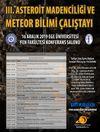 3. Asteroit Madenciliği ve Meteor Bilimi Çalıştayı