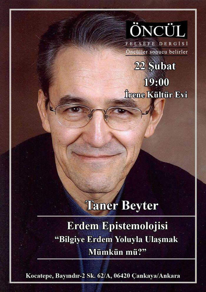 Taner Beyter - Erdem Epistemolojisi