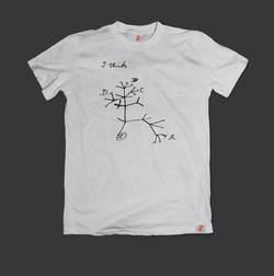 Evrim Ağacı Darwin Çizimi Bilim Tişörtü