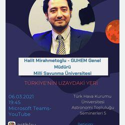 Türkiye'nin Uzaydaki Yeri - Halit Mirahmetoğlu