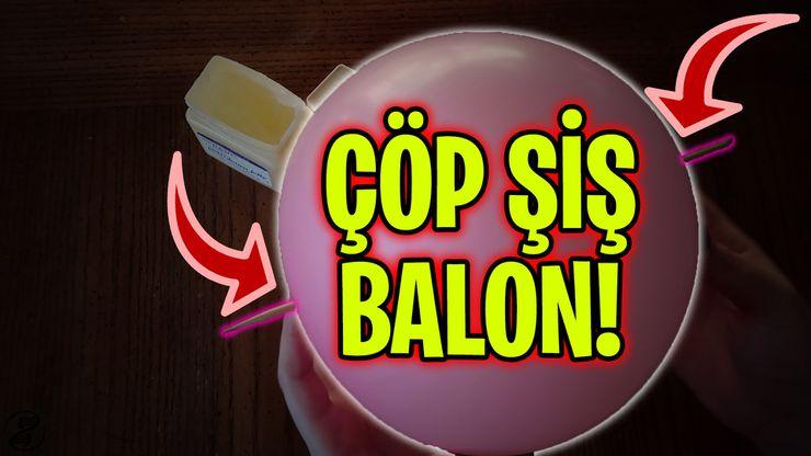 Çöp Şiş Balon Deneyi: Bir Balona, Balonu Patlatmadan Şiş Saplayabilir miyiz?
